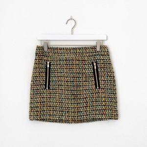 J. Crew Dolce Metallic Tweed Mini Skirt